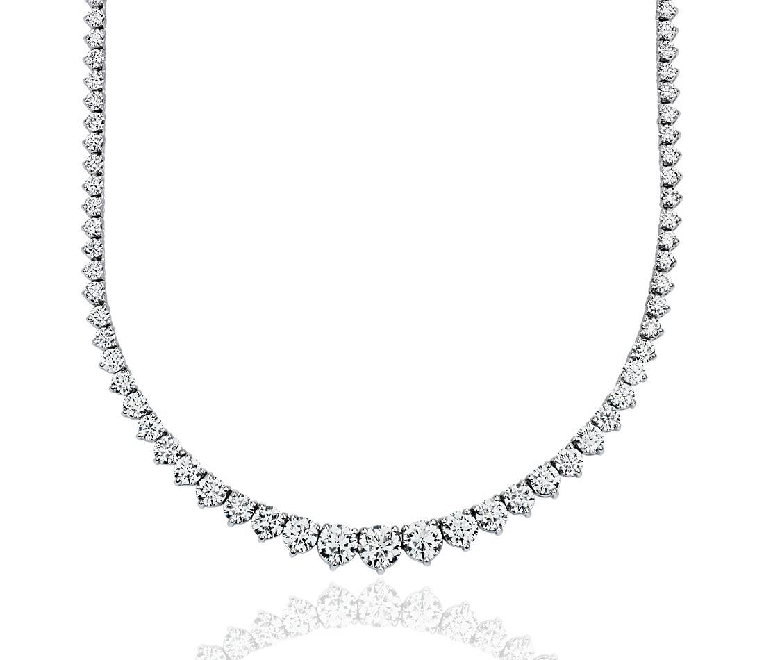 Eternity Diamond Necklace in 18k White Gold  F/VS (10 ct. tw.)