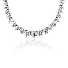 Diamond Eternity Necklace in 18k White Gold (9.95 ct. tw.)
