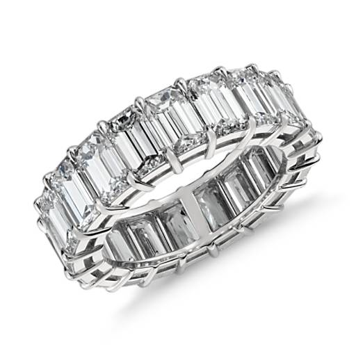 Emerald Cut Diamond Eternity Ring In Platinum 9 Ct Tw