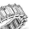 Emerald Cut Diamond Eternity Ring in Platinum (9 ct. tw.)