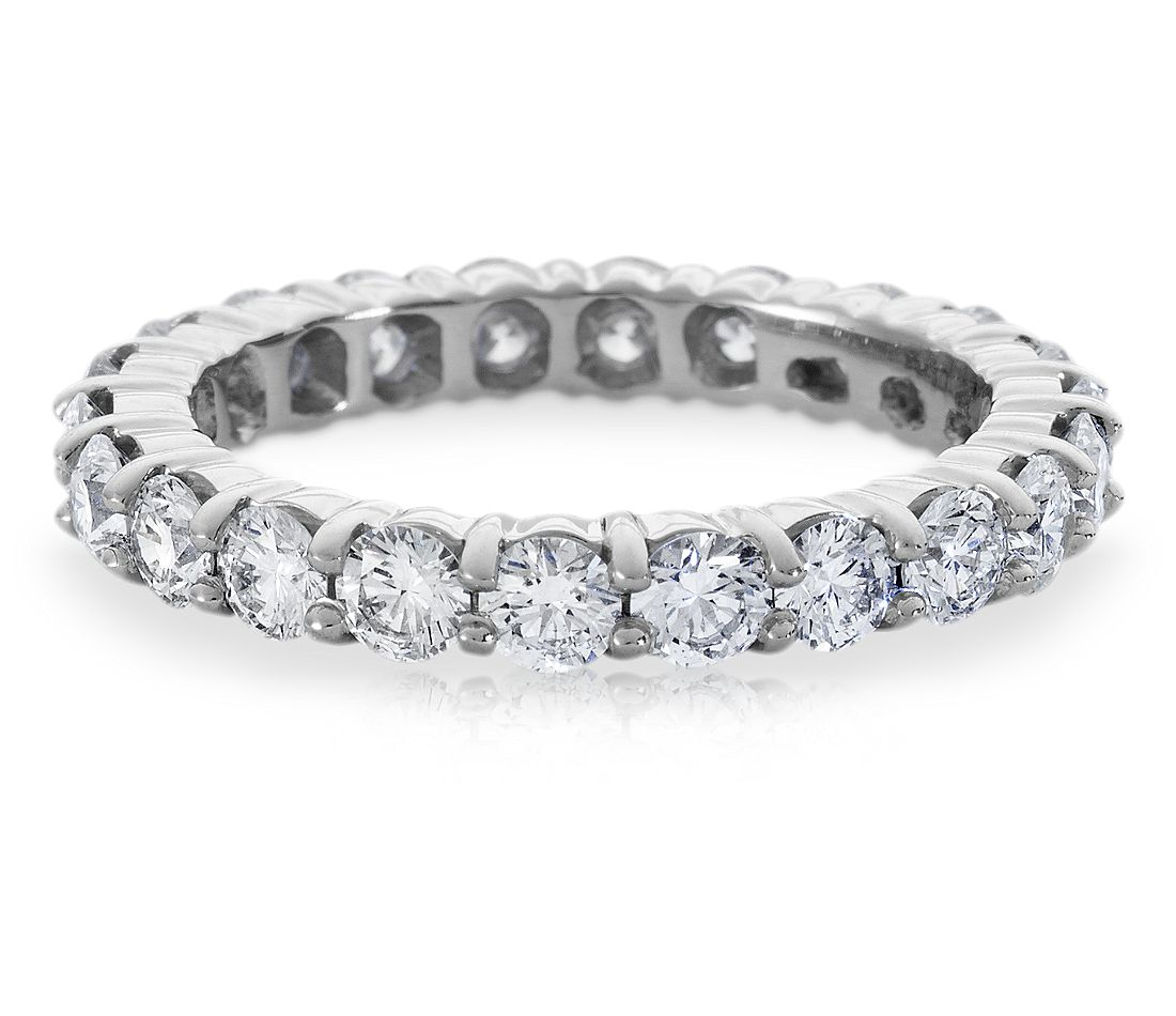 Diamond Eternity Ring In Platinum 2 Ct Tw Blue Nile
