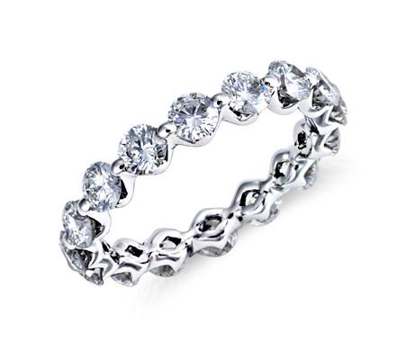 Floating Diamond Eternity Ring in Platinum (2.2 ct. tw.)