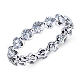 Floating Diamond Eternity Ring in Platinum (2.2 ct. tw.)