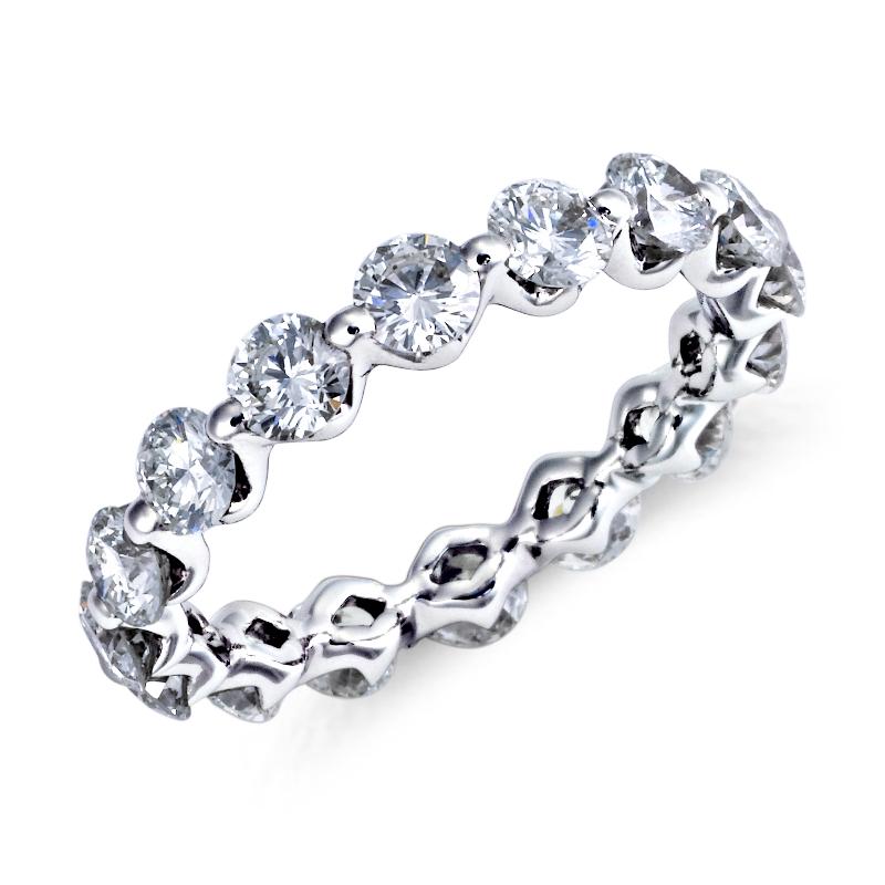 Floating Diamond Eternity Ring in Platinum (2 1/5 ct. tw.)