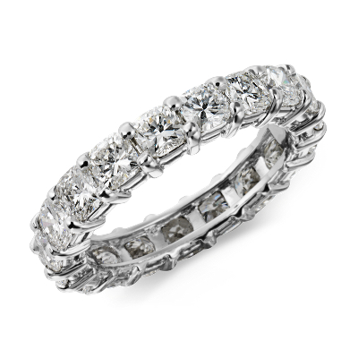 Cushion Cut Diamond Eternity Ring in Platinum (3 1/2 ct. tw.)