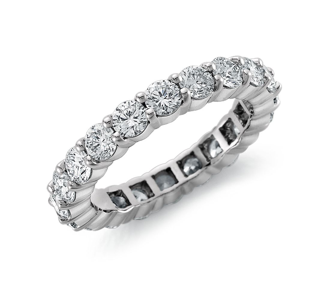 Blue Nile Signature Diamond Eternity Ring in Platinum (3 ct. tw.)
