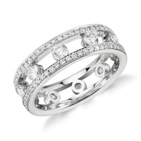 Gala Diamond Eternity Ring in 18k White Gold (1.4 ct. tw.)