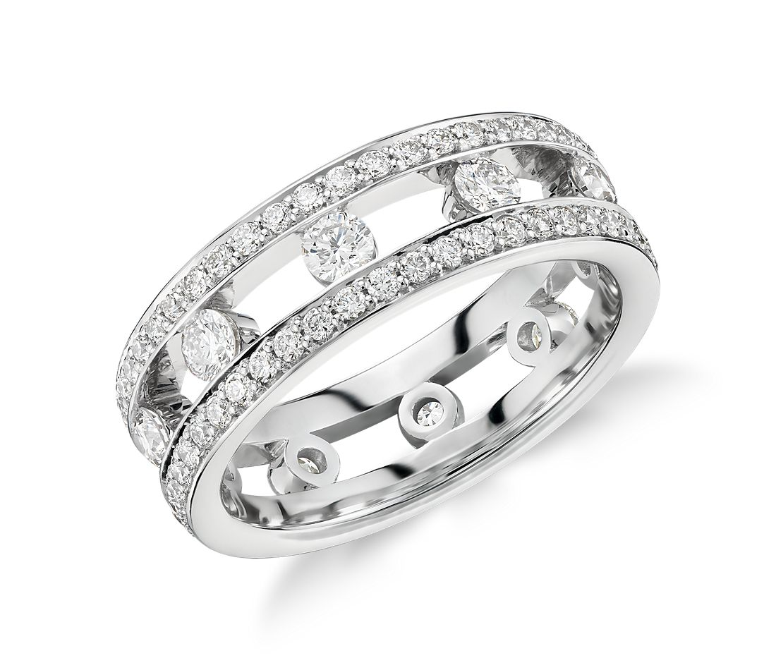 Gala Diamond Eternity Ring in Platinum (1.5 ct. tw.)
