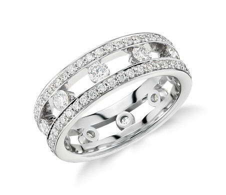Gala Diamond Eternity Ring in Platinum
