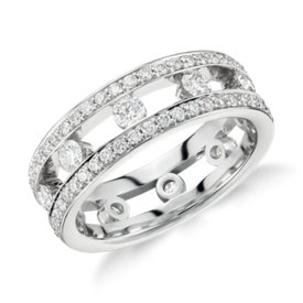 Bague d'éternité diamant Gala en platine (1,5carats, poids total)