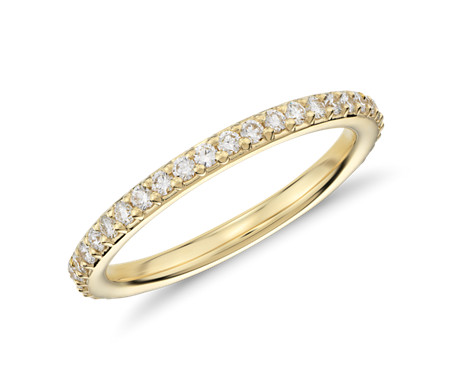 Pav 233 Diamond Eternity Ring In 18k Yellow Gold 1 2 Ct Tw