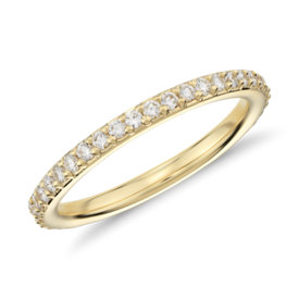Pavé Diamond Eternity Ring in 18k Yellow Gold (1/2 ct. tw.)
