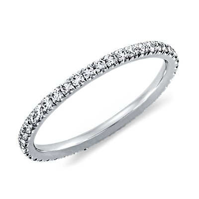 Pavé Diamond Eternity Ring in Platinum