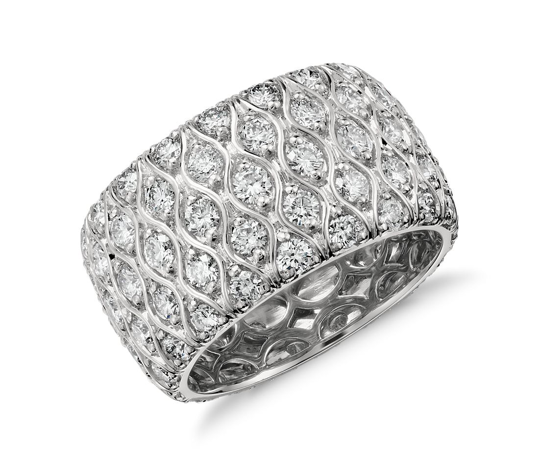 Radiance Diamond Eternity Ring in Platinum