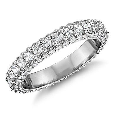 Bella Vaughan for Blue Nile Grandeur Asscher-Cut Diamond Ring in Platinum