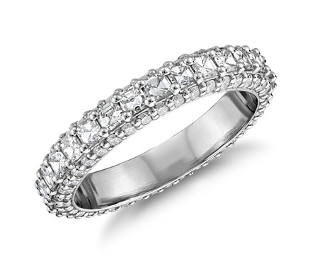 Bague en diamants taille Asscher Grandeur Bella Vaughan en platine