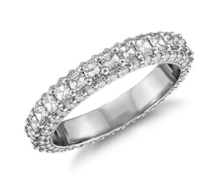 Bella Vaughan「グランドール」アッシャーカットダイヤモンドリング (プラチナ)