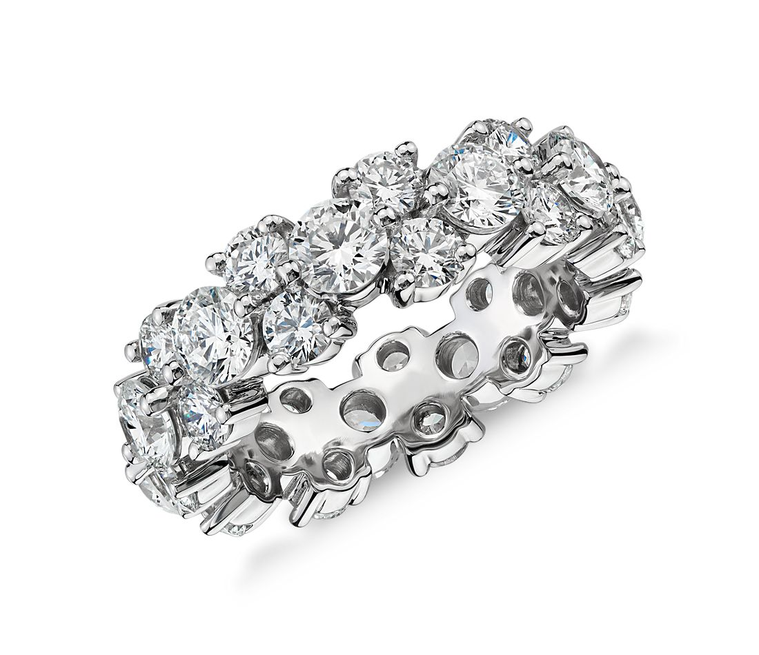 Garland Diamond Eternity Ring In Platinum 5 Ct Tw