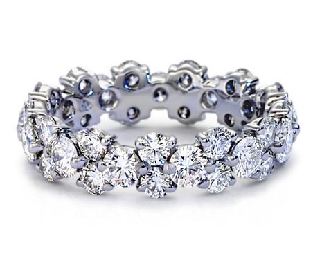 Bague d'éternité diamant guirlande en platine