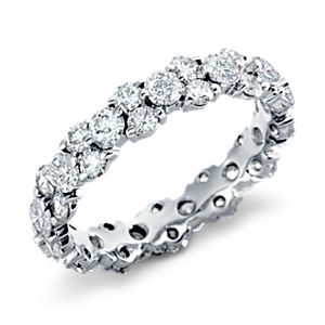 Garland Diamond Eternity Ring in Platinum