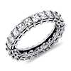 Asscher Cut Diamond Eternity Ring in Platinum (3 ct. tw.)