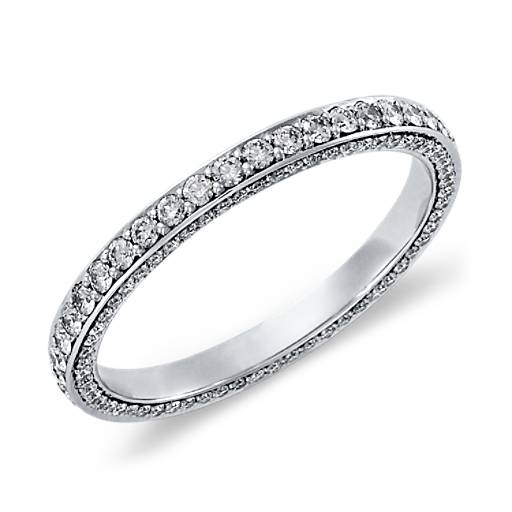 Trio Micropavé Diamond Eternity Ring in Platinum (4/5 ct. tw.)
