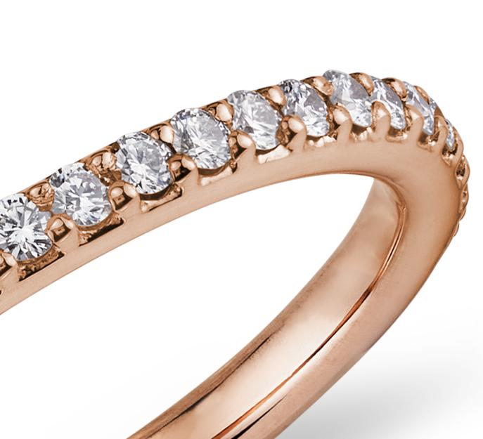 Pavé Diamond Eternity Ring in 18k Rose Gold (1/2 ct. tw.)