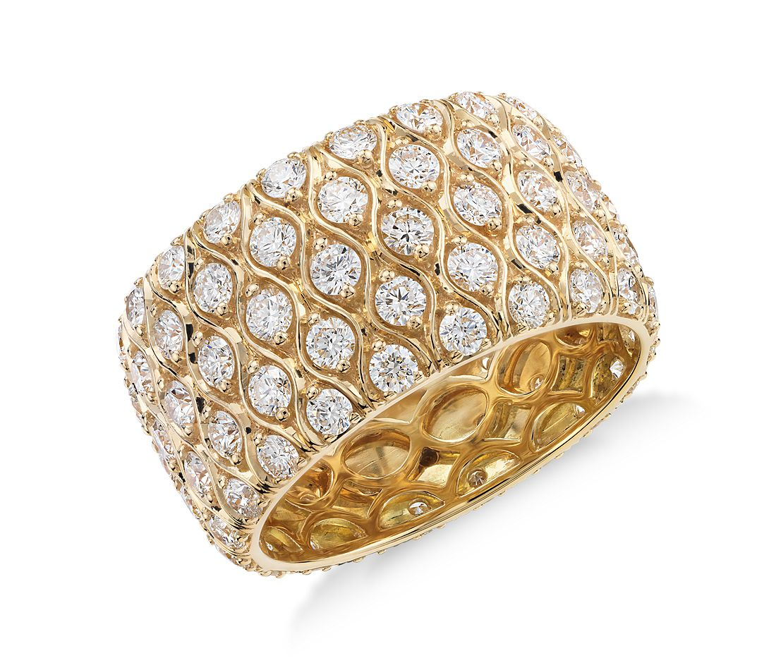 Radiance Diamond Eternity Ring in 18k Yellow Gold (3.41 ct. tw)