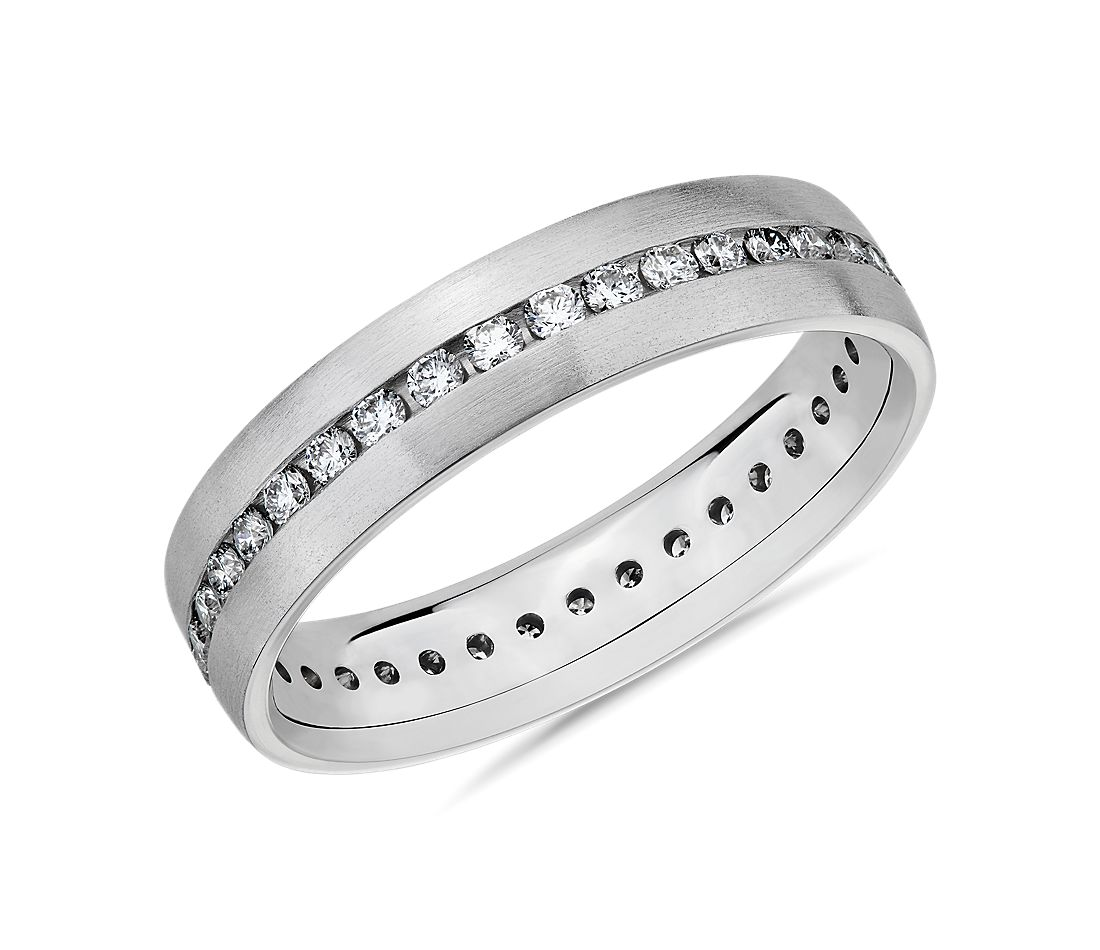 Diamond Eternity Wedding Ring in 14k White Gold (5mm)