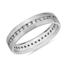 NEW Diamond Eternity Wedding Ring in 14k White Gold (5mm)