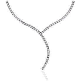 Diamond Eternity Y-Necklace in 18k White Gold (2 ct. tw.)