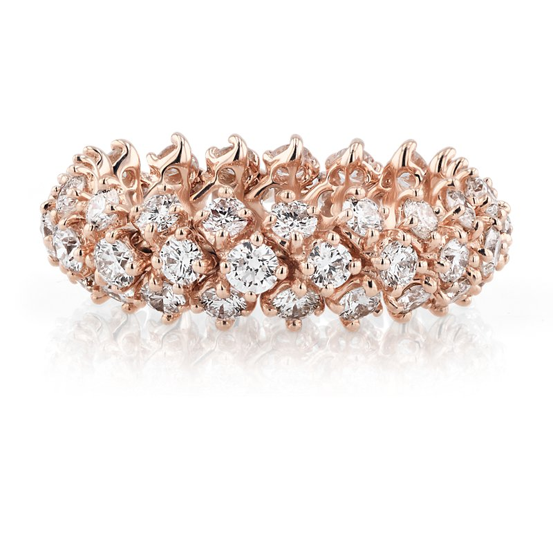 Diamond Flex Eternity Ring in 18k Rose Gold