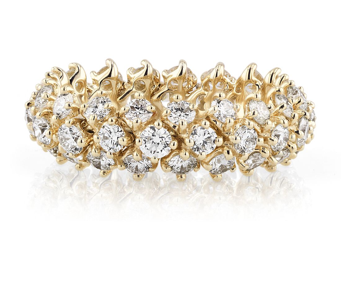 Diamond Flex Eternity Ring in 18k Yellow Gold