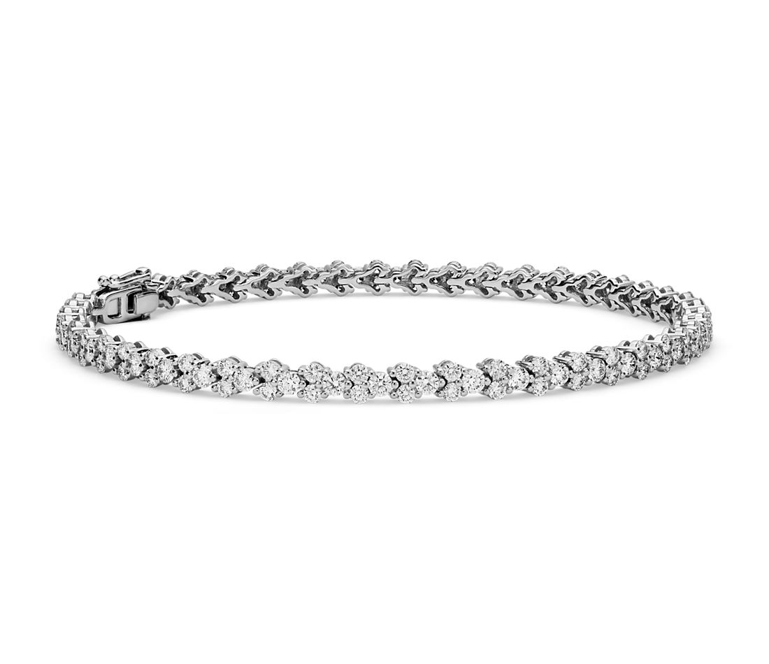 Diamond Garland Tennis Bracelet In 18k White Gold 3 5 Ct