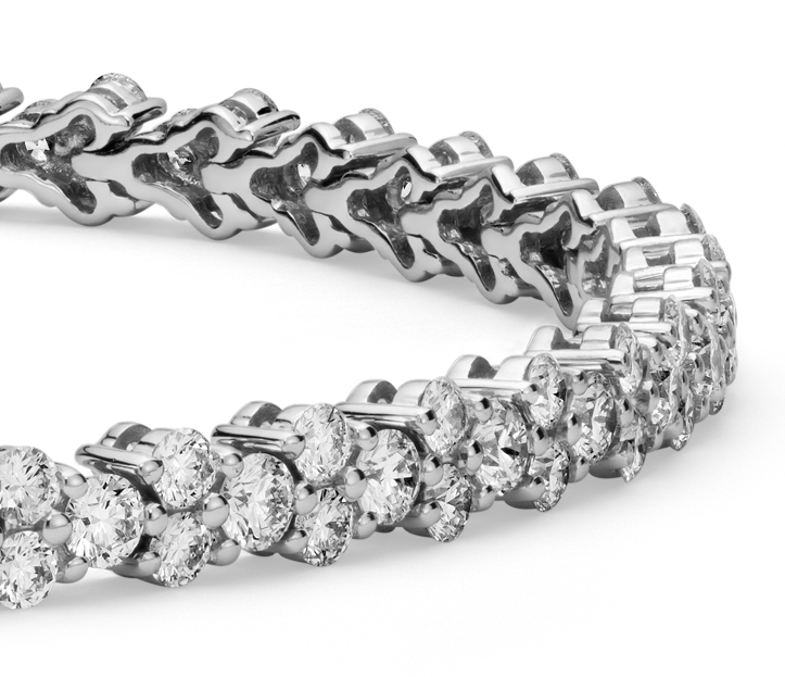 Diamond Garland Tennis Bracelet in 18k White Gold (3.5 ct. tw.)
