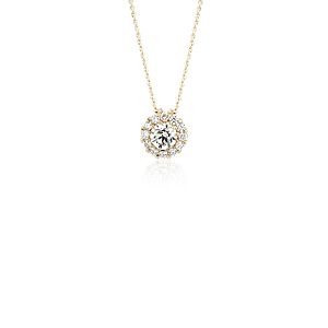 Diamond Halo Pendant in 14k Yellow Gold (1/2 ct. tw.)