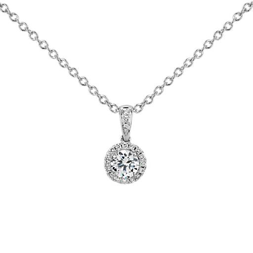 Build your own diamond pendant select a setting blue nile pendant mounting mozeypictures Choice Image