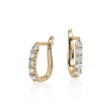 Diamond Hoop Earrings in 18k Yellow Gold (3/4 ct. tw.)