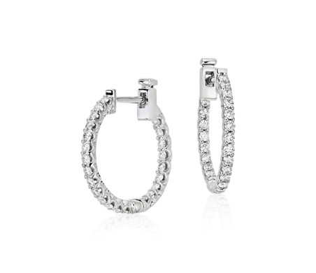 Classic Diamond Hoop Earrings