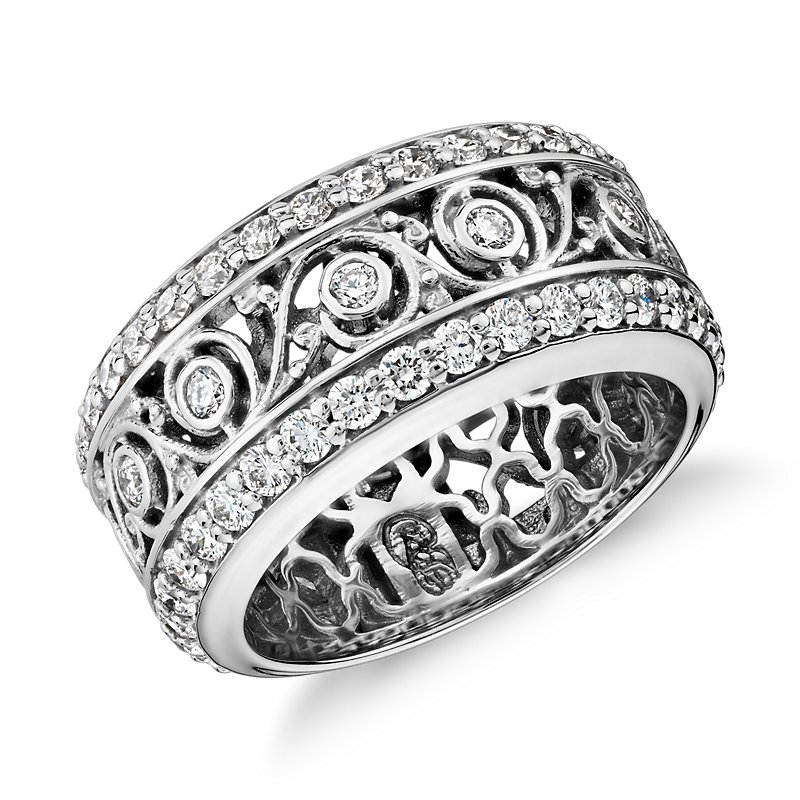 Bella Vaughan for Blue Nile Lace Diamond Eternity Ring in 18k Whi