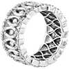 Bella Vaughan Diamond Woven Lace Eternity Band in 18k White Gold