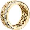 Bella Vaughan Lace Diamond Eternity Ring in 18k Yellow Gold