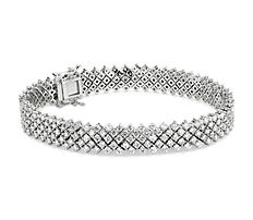 NEW Diamond Lace Tennis Bracelet in 14k White gold (7.90 ct. tw.)