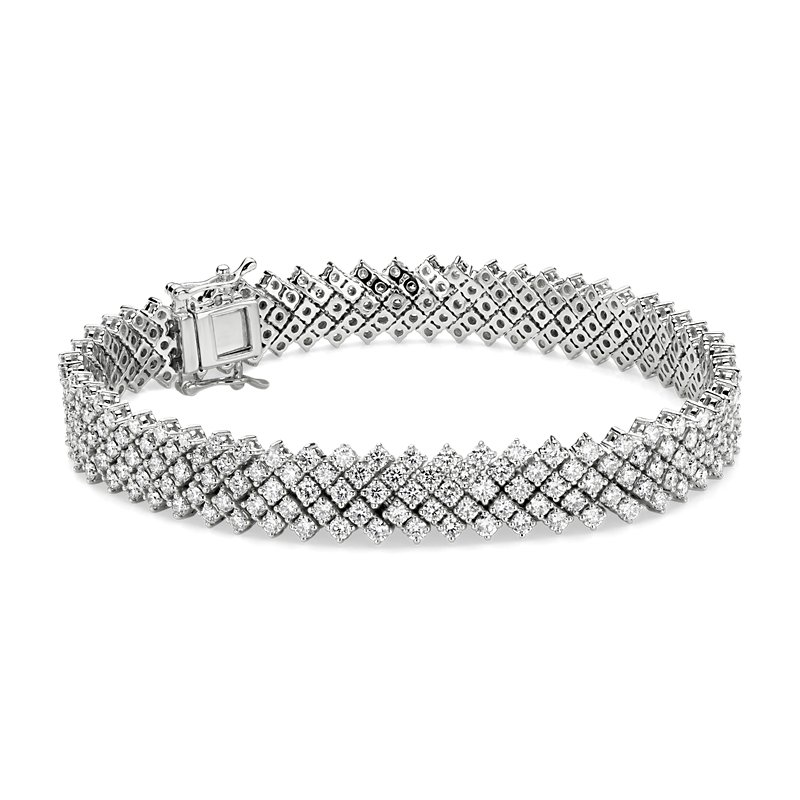 Diamond Lace Tennis Bracelet in 14k White gold (8 ct. tw.)