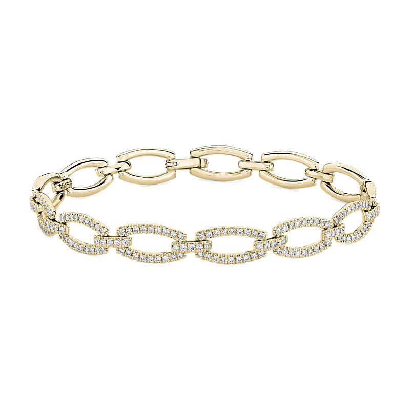 Diamond Link Bracelet in 14k Yellow Gold (1 7/8 ct. tw.)