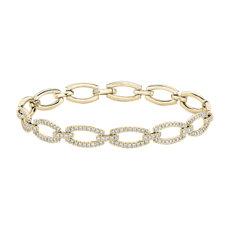 新款 14k 金钻石链状手链<br>(1 7/8 克拉总重量)