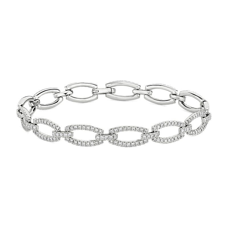 Diamond Link Bracelet in 14k White Gold (1 7/8 ct. tw.)