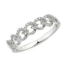 Diamond Link Fashion Ring in 14k White Gold (0.25 ct. tw.)