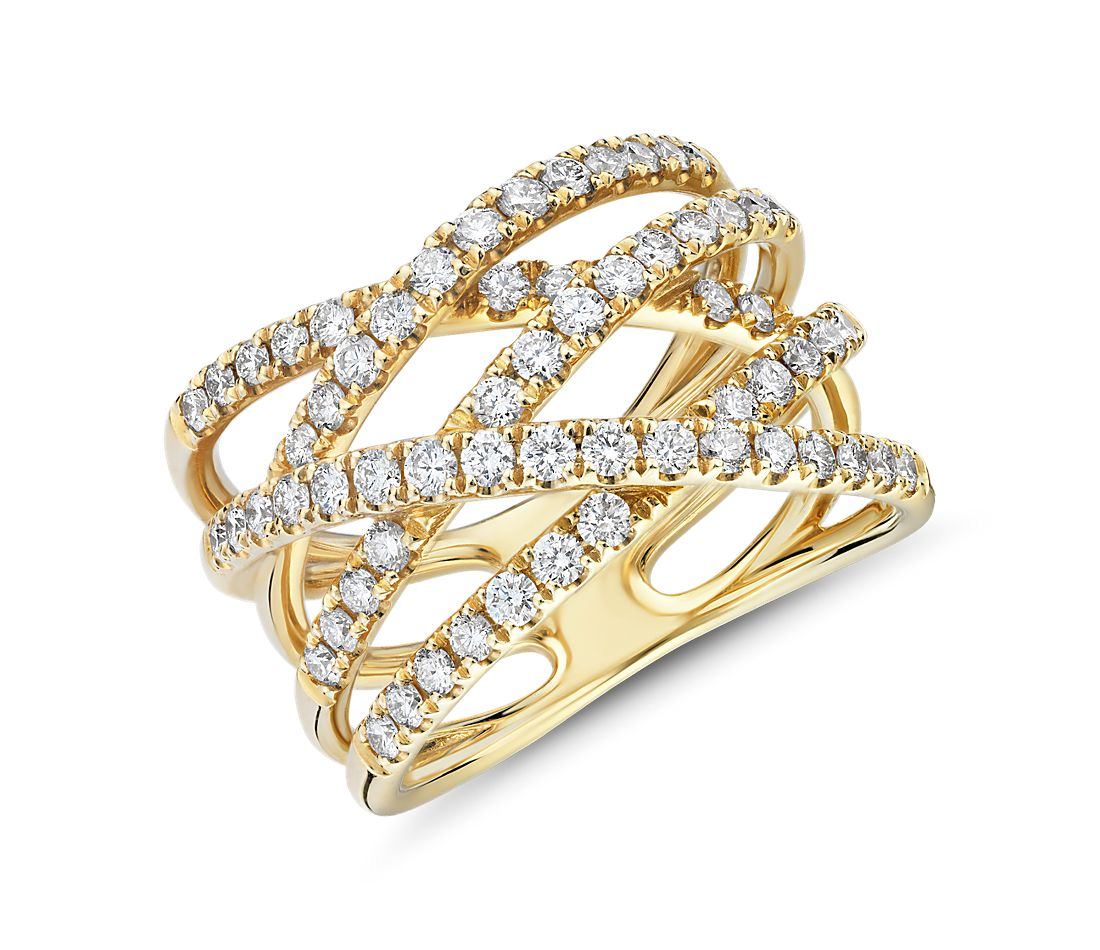 Diamond Wrap Fashion Ring in 14k Yellow Gold (1 ct. tw.)