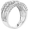 Diamond Graduated Row Fashion Ring in 14k White Gold (2 ct. tw.)